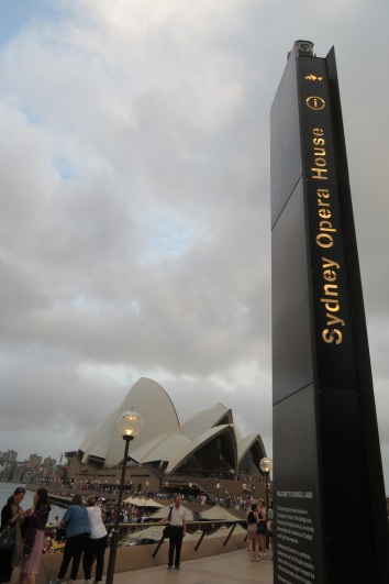 The path to the Sydney Opera House