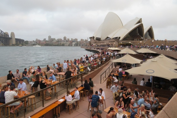 Crowds around the Opera House