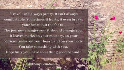 Anthony Bourdain Quote about travel
