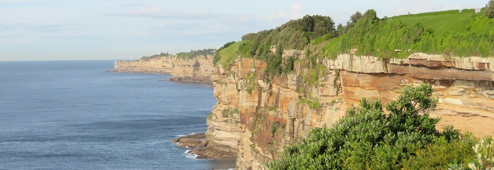 Sandstone cliffs along Sydney's coastlaine