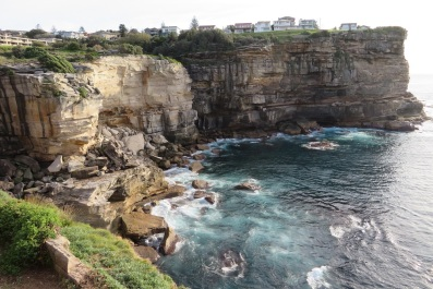 Views of sandstone cliffs - Sydney