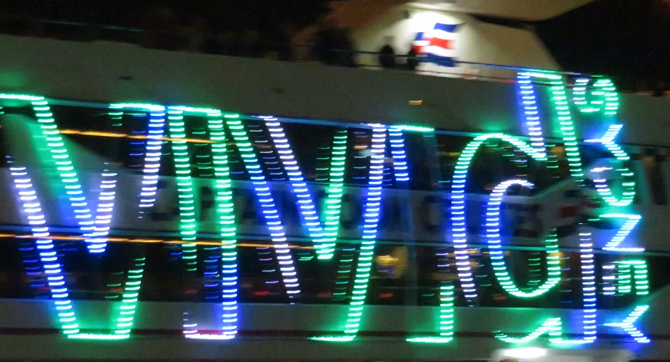 Electric VIvid signage on a boat - Sydney Australia