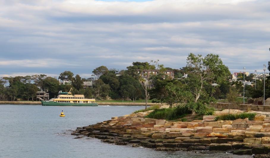 Wulugul Walk - Sydney Harbour looking east to East Balmain