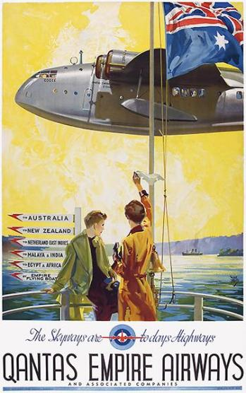 Heritage Pinterest poster of flying boats