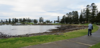 An early morning stroll along the water at Kiama