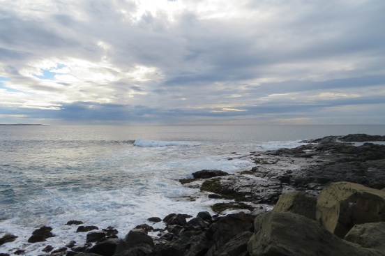 Sea rocks and clouds in Kiama
