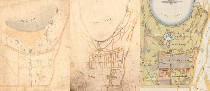 Old maps of Sydney's Royal Botanic Gardens