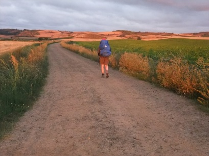 Early morning walk on the Camino Frances