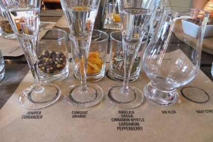 Botanicals tasting for gin at Baker Williams Distillery