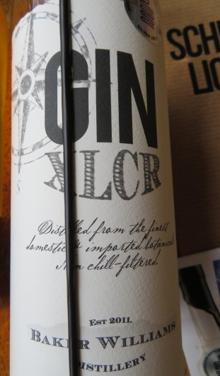 the gin label with dripping wax