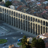 The amazing aqueduct in Segovia.