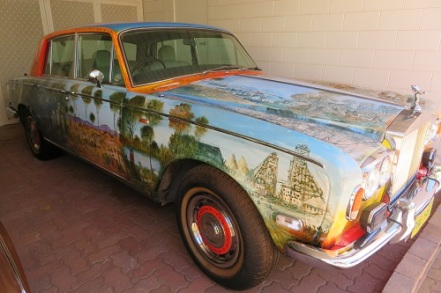 Pro Hart painted Rolls Royce