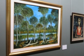 A piece of Pro's work at the Broken Hill Regional Gallery