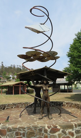 Sculpture in the open air gallery in Walcha