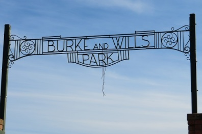 Burke and Wills sign