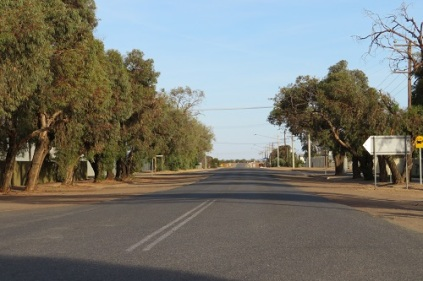 The broad streets of Menindee