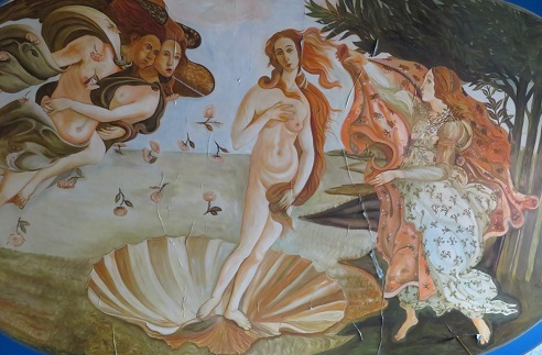A rough version of Botticelli's Birth of Venus at The Palace Hotel Broken Hill