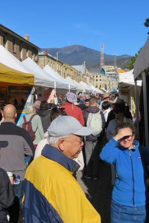 Crowds at the Salamanca Market Hobart