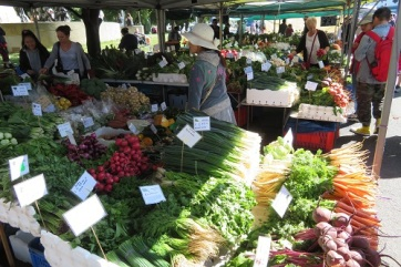 Organic produce at the Salamanca Market Hobart