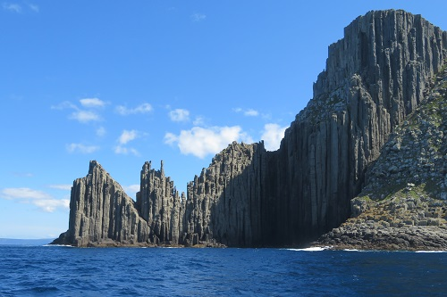 Rock formations along the Tasmanian coastline