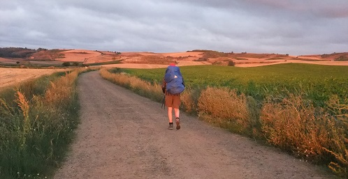 An early morning start on the Camino Frances, September 2013