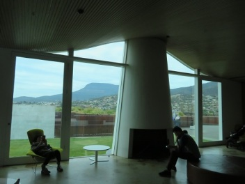 People sitting inside at MONA Hobart Tasmania
