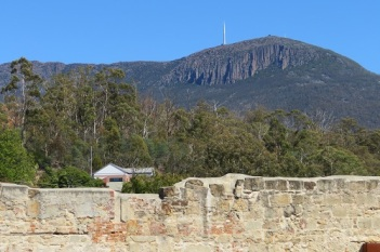 Mt Wellington is the backdrop to the Cascades Female Factory in Hobart
