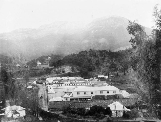 A historic photo of the Cascades Female Factory. Source:Tasmanian libraries