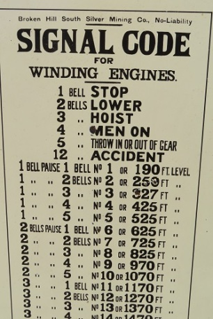 Signal Code for Broken Hill South Silver Mining Company