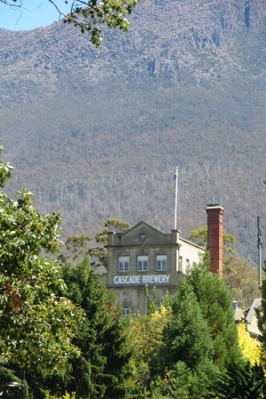 Cascade Brewery with Mt Wellington behind, Hobart