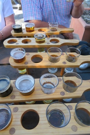 Beer paddles at the Cascade Brewery Hobart