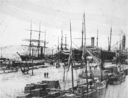 Antarctic Ships - Hobart Harbour 1910