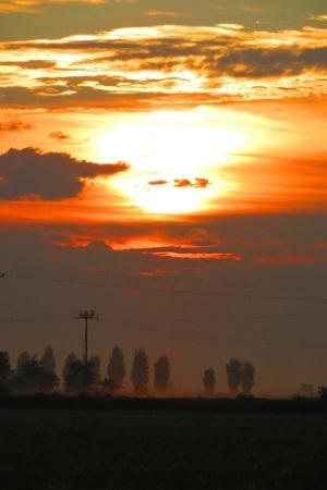 A sunrise on the Italian Via Francigena