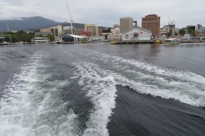 Leaving Constitution Dock heading to MONA, Hobart Tasmania