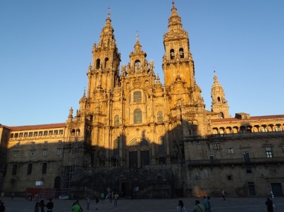 Sunset on the Cathedral in Santiago de Compostela