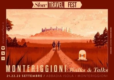 A poster advertising the Italian Via Francigena