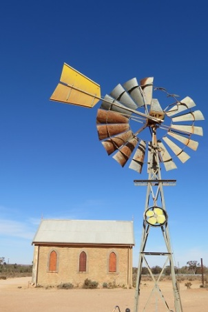 An old building and windmill in Silverton Outback NSW