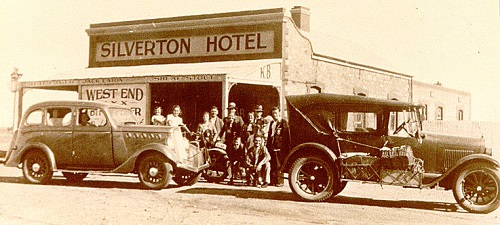 A historic photo of the Silverton Hotel Outback NSW