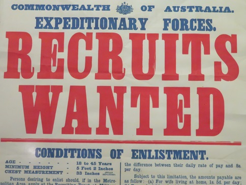 An Australian recruiting poster from World War 1