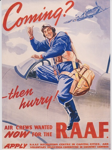 Australian War Memorial - Postcard promoting the RAAF