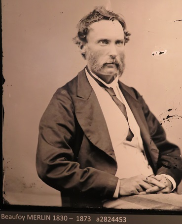 1873 photograph of Henry Beaufoy Merlin