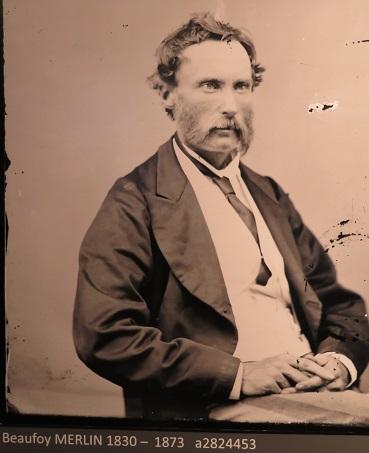 1873 photograph of Henry Beaufoy Merlin