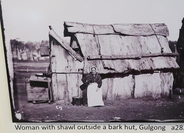 1872 sepia photographs of the gold rush days at Gulgong