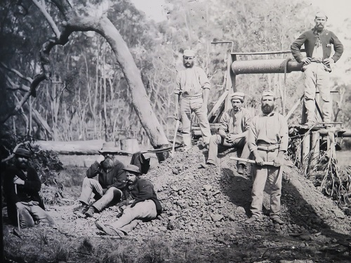 Gold miners photos taken by Henry Beaufoy Merlin in the gold rush days of Gulgong