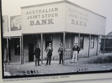 Old sepia photo of early gold rush days in Gulgong