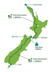 Map of the Te Ararora Path