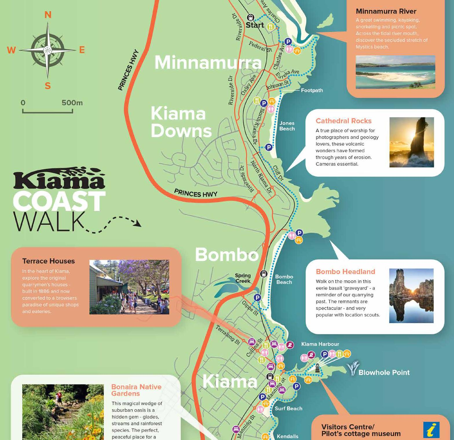 Day 1 Map - Kiama Coast Walk