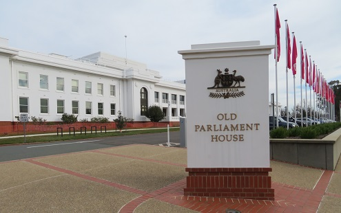 The front of Old Parliament House, Canberra
