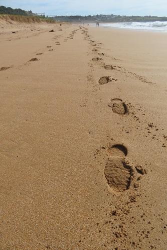Strolling along Bombo Beach