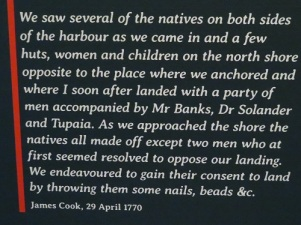 A quote from Captain Cook when discovering Australia